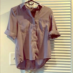 Grey business blouse from Express